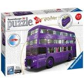 Puzzle 3D Harry Potter Błękitny autobus