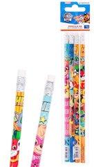 Ołówek z gumką Psi Patrol 4szt
