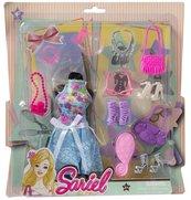 Sukienka dla lalek z akcesoriami