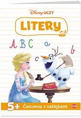 Disney Uczy Kraina Lodu Ćwiczenia z naklejkami Litery