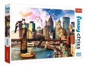 Puzzle 1000 Koty w Nowym Jorku TREFL