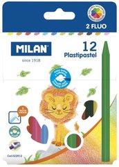 Kredki świecowe Plastipastel 12 kolorów MILAN