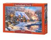 Puzzle 500 Winter Cottage CASTOR
