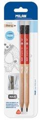 Ołówek maxi HB z gumką 2szt + temperówka maxi