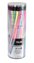 Ołówek okrągły HB z gumką Sunset (48szt) MILAN