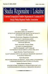 Studia Regionalne i Lokalne 2020/2 (80)