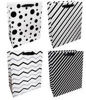 Torba prezentowa 26x32 czarno-biała