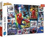 Puzzle 500 Plakaty z superbohaterem TREFL