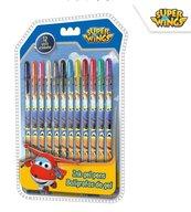 Zestaw długopisów żelowych 12 kol. Super Wings