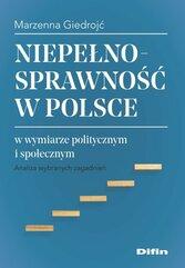Niepełnosprawność w Polsce w wymiarze politycznym i społecznym