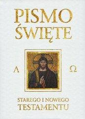Pismo Święte ST i NT białe ze złoceniem