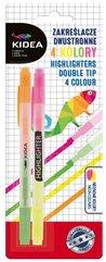 Zakreślacze dwustronne 4 kolory KIDEA