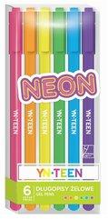 Długopis żelowy 6 kolorów Neon YN TEEN