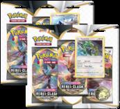 Pokemon TCG: Sword & Shield - Rebel Clash 3PK Booster (Display 24 szt.)