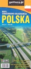 Mapa samoch-kraj. Polska 1:650 000 w.2020