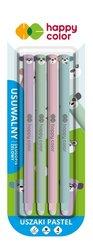 Długopis usuwalny Uszaki Pastel 0,5mm nieb. 4szt