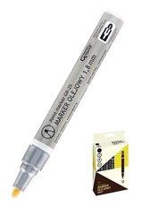 Marker olejowy GR-25 srebrny (12szt) GRAND