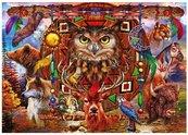 Puzzle 1000 Totem pełen zwierząt Ciro Marchetti
