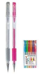 Długopis żelowy z gripem brokat 6 kolorów