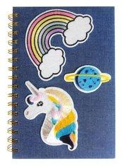 Notes na spirali A5 Jeans Unicorn