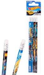Ołówek z gumką Hot Wheels 4el