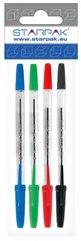Długopis zamykany Cristal 4 kolory