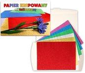 Papier metalizowany krepowany 6 kolorów C4