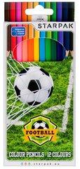 Kredki ołówkowe 12 kolorów Football