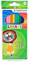 Kredki ołówkowe jumbo 12 kolorów Safari