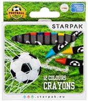 Kredki woskowe 12 kolorów Football