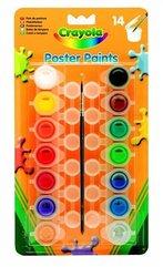 Farby plakatowe 14 kolorów + pędzel CRAYOLA