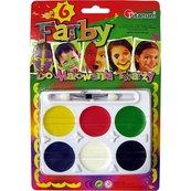 Farby do malowania twarzy 6 kolorów