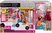 Barbie Zestaw szafa z lalką i akcesoriami