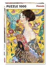Puzzle - 1000 Klimt, Dama z Wachlarzem PIATNIK