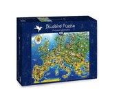 Puzzle 1000 Mapa z zabytkami Europy