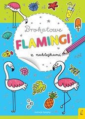 Brokatowe flamingi z naklejkami
