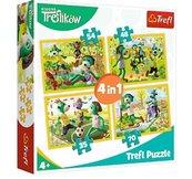 Puzzle 4w1 Wspólne zabawy Treflików TREFL