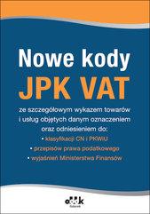 Nowe kody JPK VAT