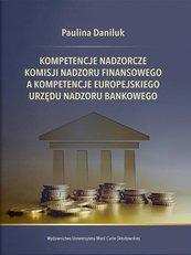 Kompetencje nadzorcze Komisji Nadzoru Finansowego