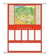 Plan lekcji - mapa Polska Młodego Odkrywcy