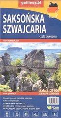Mapa tur. - Saksońska Szwajcaria cz. zach