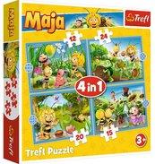 Puzzle 4w1 Przygody Pszczółki Mai TREFL