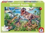 Puzzle 60 Wśród dinozaurów G3