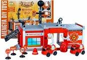 Straż pożarna do złożenia autka odbiornik 59 elementów