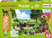 Puzzle 60 Schleich Zbiór siana + 2 figurki G3