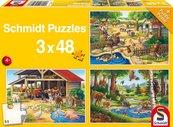 Puzzle 3x48 Moje ulubione zwierzęta G3