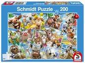 Puzzle 200 Zwierzątka robią selfie G3