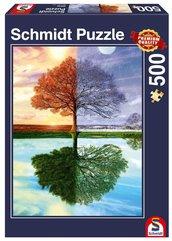 Puzzle PQ 500 Jedno drzewo - cztery pory roku G3