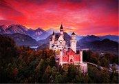 Puzzle 1000 Zamek Neuschwanstein z zachodem słońca
