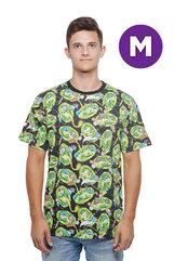 Rick and Morty Pattern T-shirt M